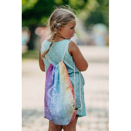 LennyLamb taška SackPack Swallows Rainbow Light