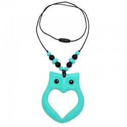 Silikonový náhrdelník sova s korálky 3