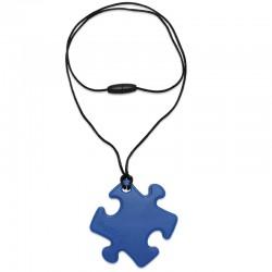 Silikonový přívěsek puzzle modré