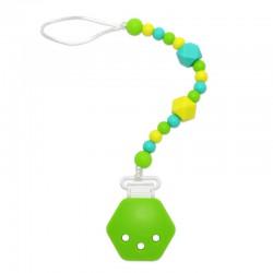 Silikonový klip na dudlík zelený