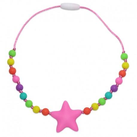 Silikonový náhrdelník pro děti růžová hvězda