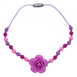 Silikonový náhrdelník pro děti květ