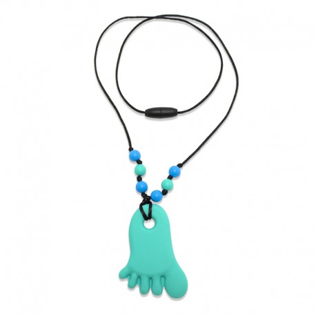 Silikonový náhrdelník tyrkysová nožička