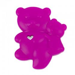 Silikonový přívěsek růžoví medvídci