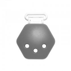 Silikonový klip šedý