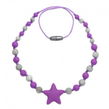 Silikonové korále fialová hvězda