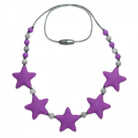 Silikonové korále fialové hvězdy