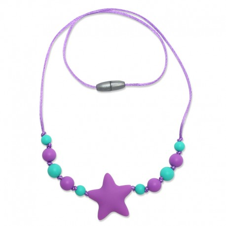 Silikonové korále fialová hvězda 2