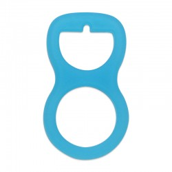 Silikonový adaptér modrý