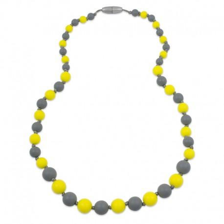 Silikonové korále žluto-šedé
