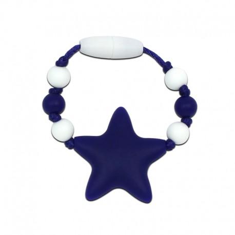Silikonový kroužek na šátek navy hvězda