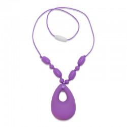 Silikonový náhrdelník s přívěskem slzy
