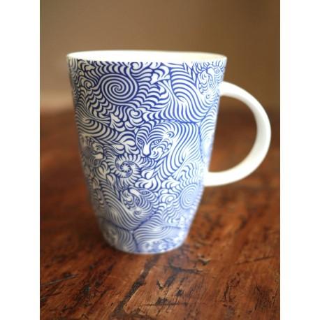 Porcelánový hrnek Raja Indigo