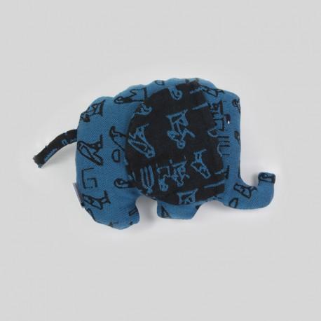Slon z šátku Luluna Hieroglyphs Turquoise/Black
