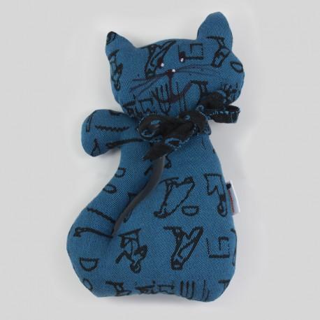 Kočka z šátku Luluna Hieroglyphs Turquoise/Black
