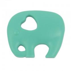 Silikonový přívěsek tyrkysový slon