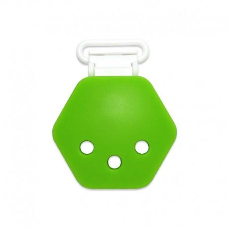 Silikonový klip zelený