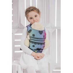 LennyLamb dětské nosítko na panenky Rainbow Lace Dark