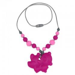 Silikonový náhrdelník růžoví medvídci