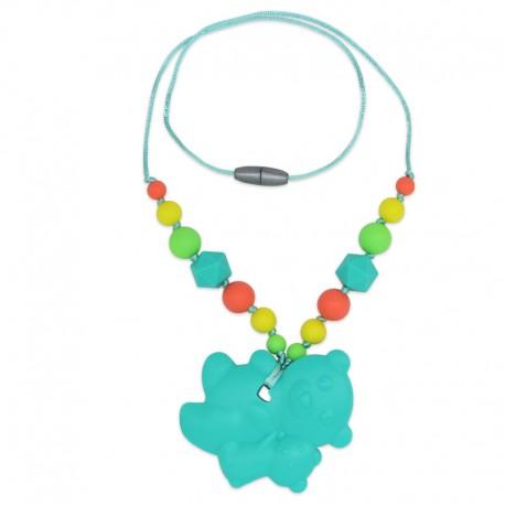 Silikonový náhrdelník tyrkysoví medvídci