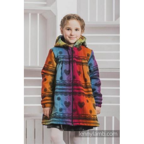 LennyLamb Dívčí kabát Rainbow Lace Dark with Black