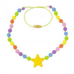 Silikonové korále žlutá hvězda 2