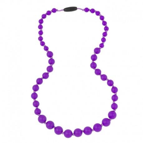 Silikonové korále tmavě fialové