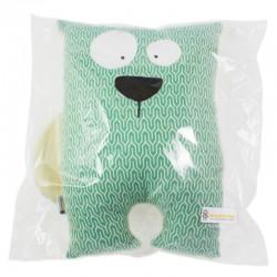 Polštář medvěd z šátku Yaro Turtle Emerald