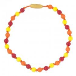 Silikonový náhrdelník pro děti červená-oranžová-žlutá