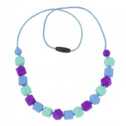 Silikonové korále fialovo-modro-tyrkysové