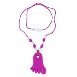 Silikonový náhrdelník růžová nožička 2
