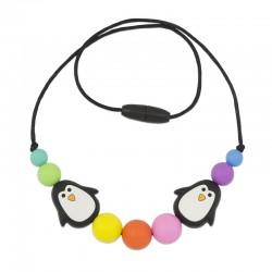 Silikonový náhrdelník pro děti s tučňáky