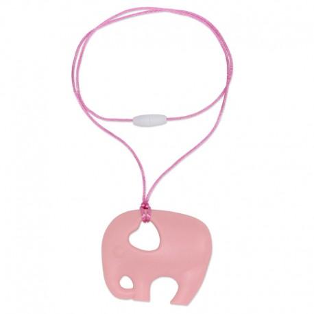 Silikonový přívěsek světle růžový slon