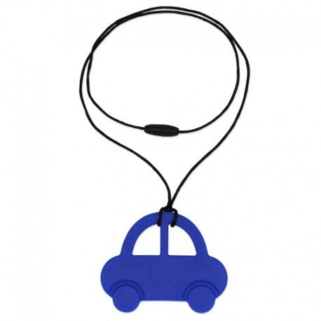 Silikonový přívěsek modré auto