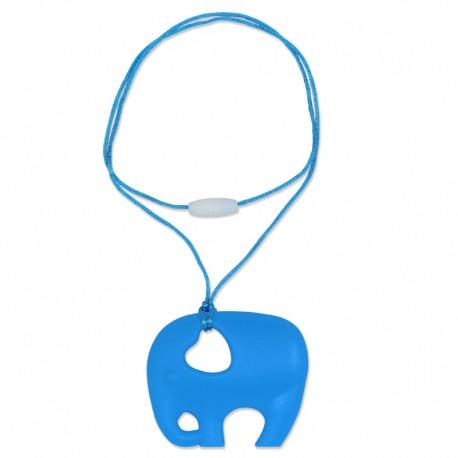 Silikonový přívěsek modrý slon