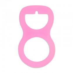 Silikonový adaptér na dudlík světle růžový