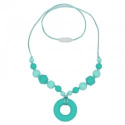Silikonový náhrdelník tyrkysový donut 1