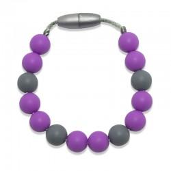 Silikonový náramek fialové korálky
