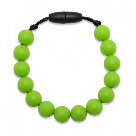 Silikonový náramek zelené korálky