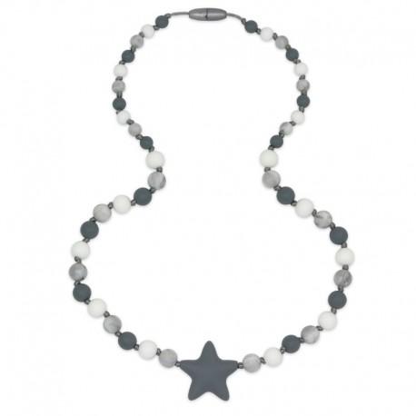 Silikonové korále s šedou hvězdou