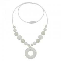 Silikonový náhrdelník bílý donut