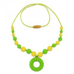 Silikonový náhrdelník zelený donut