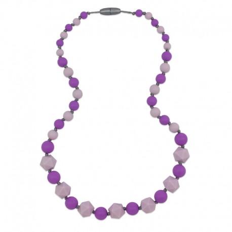 Silikonové korále fialové