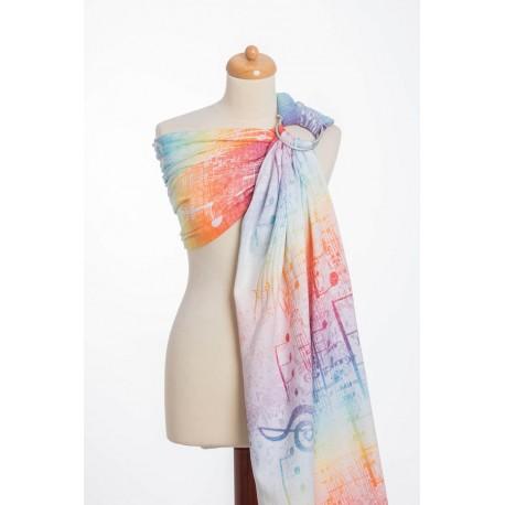 LennyLamb Symphony Rainbow Light - žakárový šátek ring sling