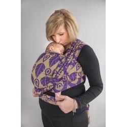 LennyLamb Northern Leaves Purple & Yellow - žakárový šátek