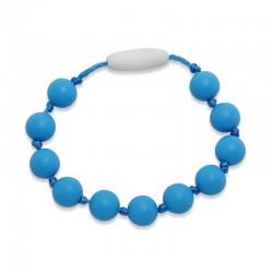Silikonový náramek modré korálky