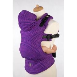 LennyLamb Peacock's Tail Purple & Pink - ergonomické nosítko