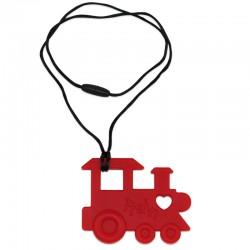 Silikonový přívěsek červená mašinka