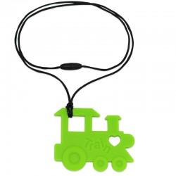 Silikonový přívěsek zelená mašinka