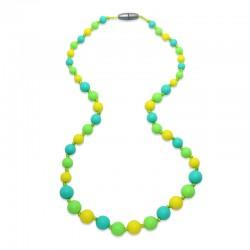 Silikonové korále citron-tyrkys-zelená